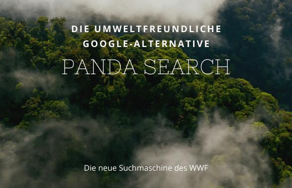 Die umweltfreundliche Google-Alternative des WWF: PANDA SEARCH