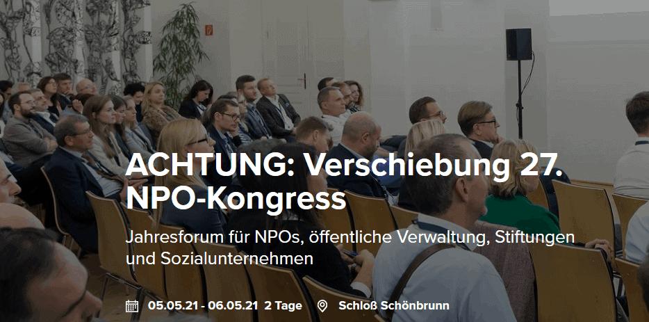 """Jahresforum für NPOs auf 2021 verschoben – Einladung zur Online-Diskussion """"Sinn geben und Nachhaltigkeit sichern"""" am 21.10.2020"""